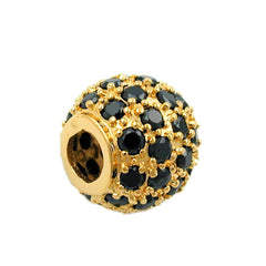 PENDANT BALL WITH ZIRCONIA 3 MICRON GOLD-PLATED