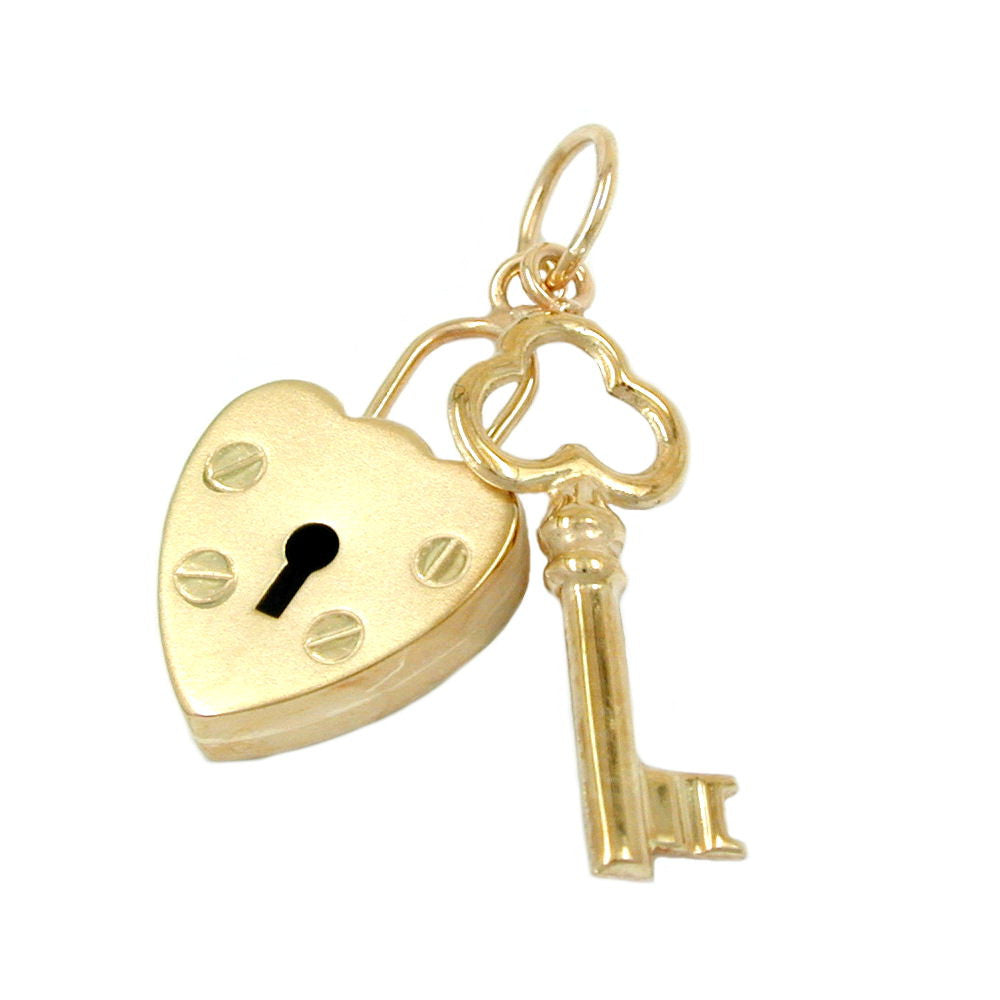 PENDANT LOCK - KEY 9K GOLD