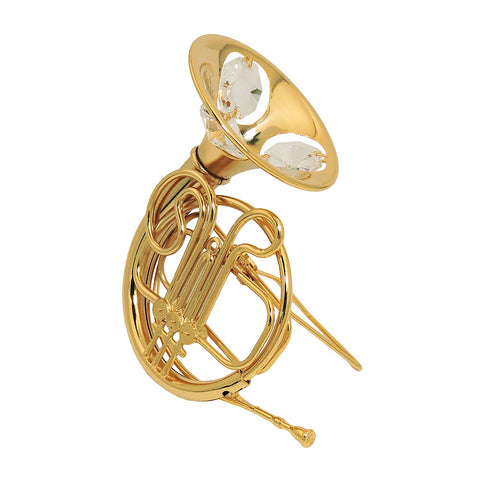 French horn with crystal elements