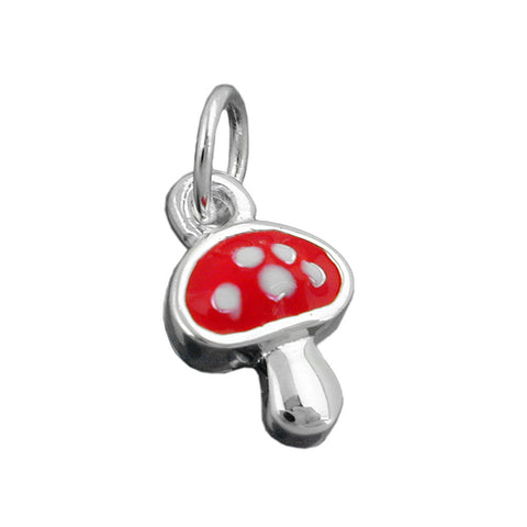 PENDANT FLY AGARIC RED SILVER 925