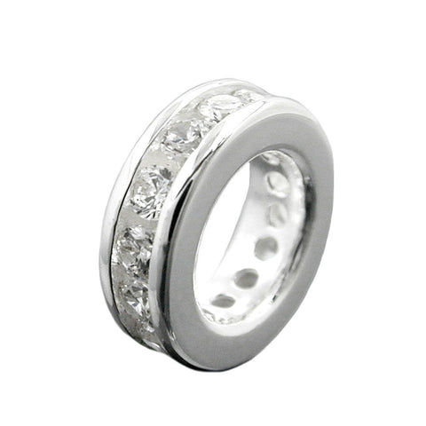 PENDANT BAPTISM RING CZ SILVER 925