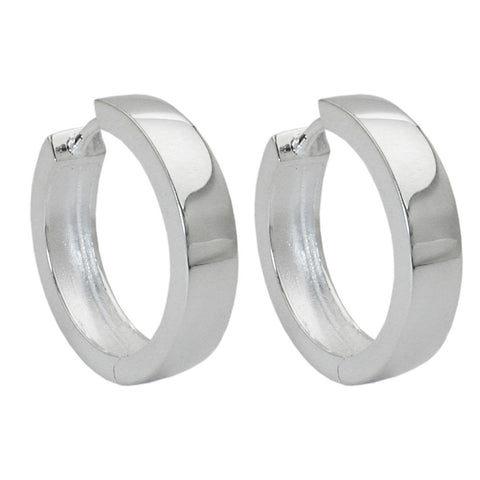 HOOP EARRINGS HINGED 17X4MM SILVER 925