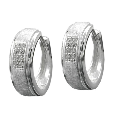 HOOP EARRINGS ZIRCONIAS SILVER 925
