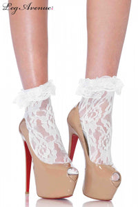 Lace Anklet with ruffles (2 colours)