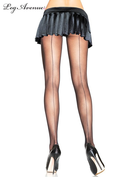 back sheer back seam pantyhose (2 colours)