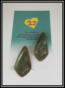 Antique green flat retro stud