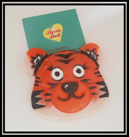 Two tone tiger Brooch