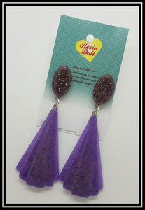 Violet Bronze Lrg Deco drop earrings