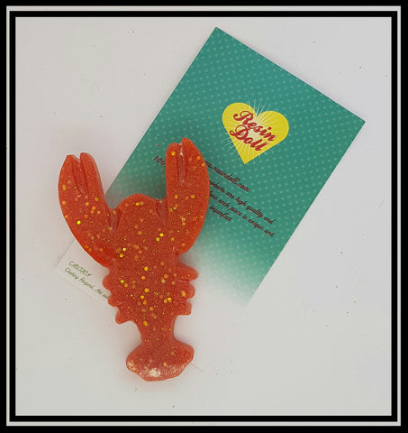 Orange confetti glitter lobster