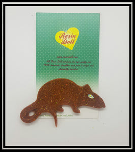 Brown Rat Brooch