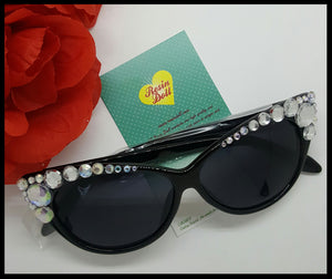Lrg clear super bling, gloss black frame