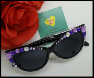 Lrg purple bling, gloss black