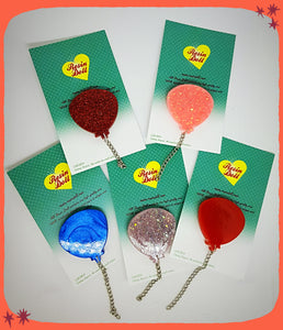 Balloon brooches