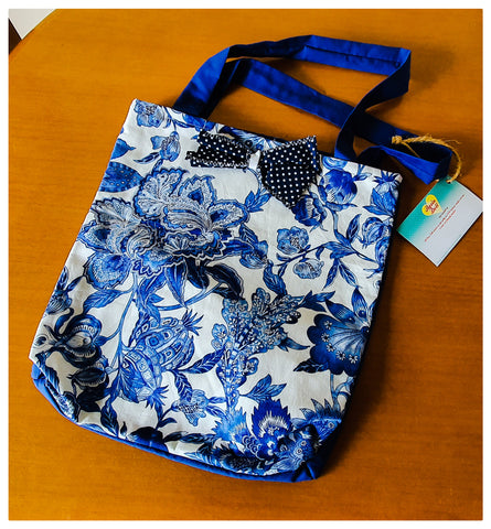 Blue China Shopping bag