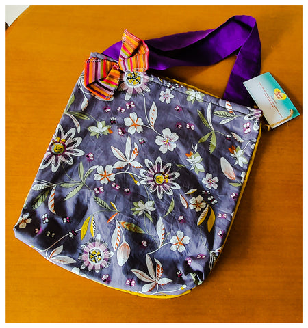 Passion flower Shopping bag