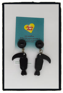 Toucan drop earrings