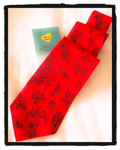 Red flash neck tie