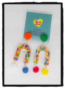 Sweet treats U Turn drop earrings