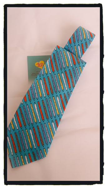 Pencil neck tie