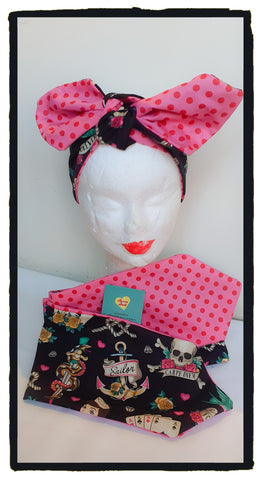 Rockabilly Reversible headband (New design)