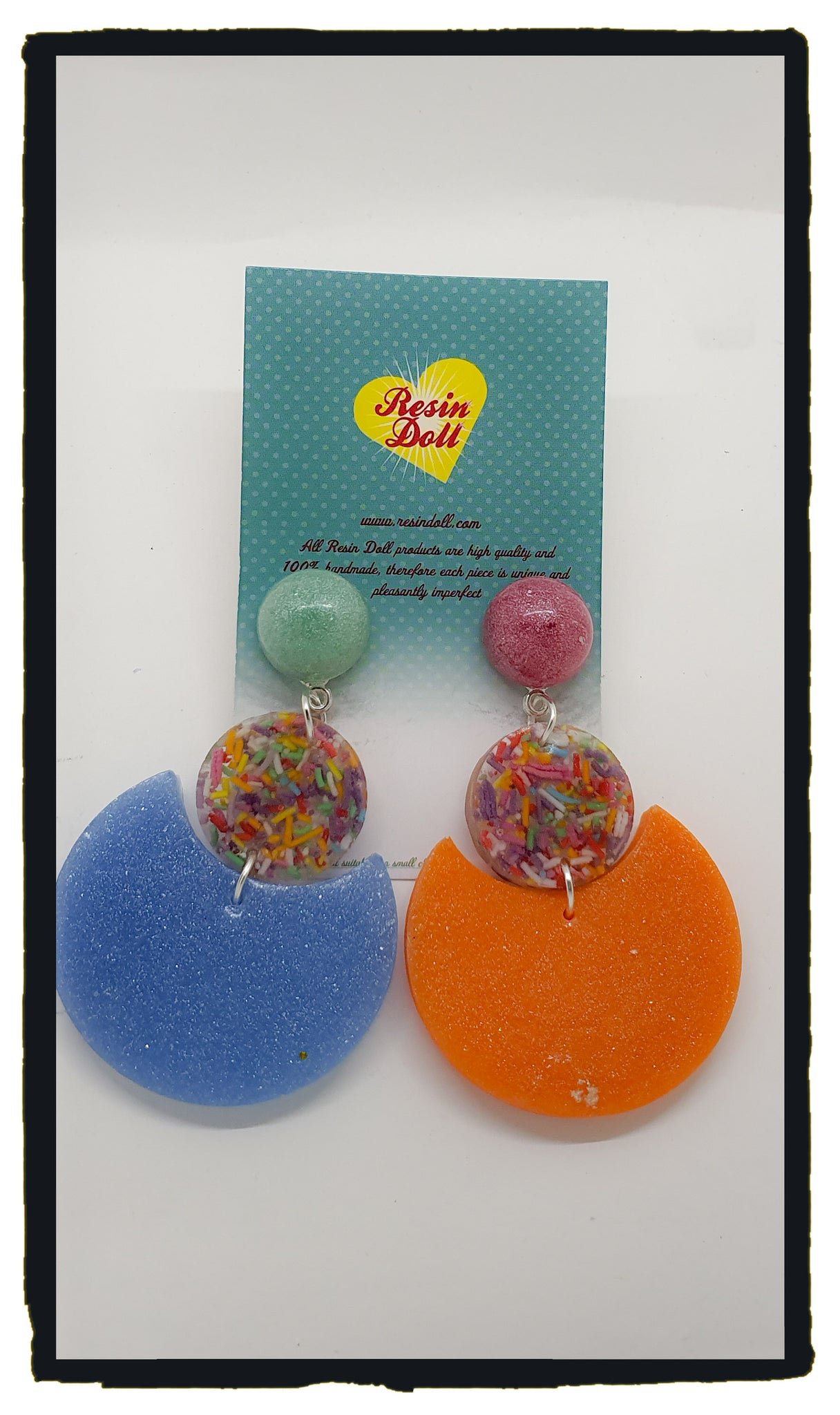 Pastel sprinkles Round Round Baby drop earrings (new design)
