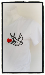 Love bird white tie front(Size 12)