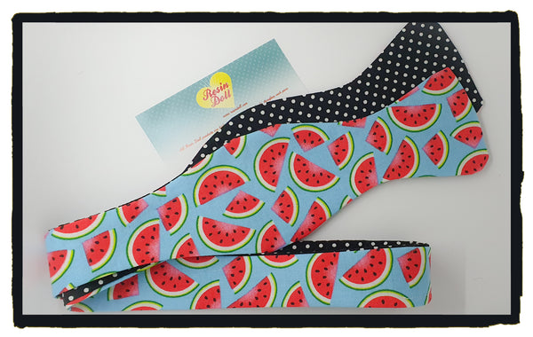 Watermelon reversible bow tie