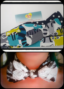 Racoon Reversible bow tie
