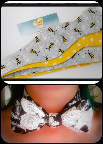 Busy bees bow tie