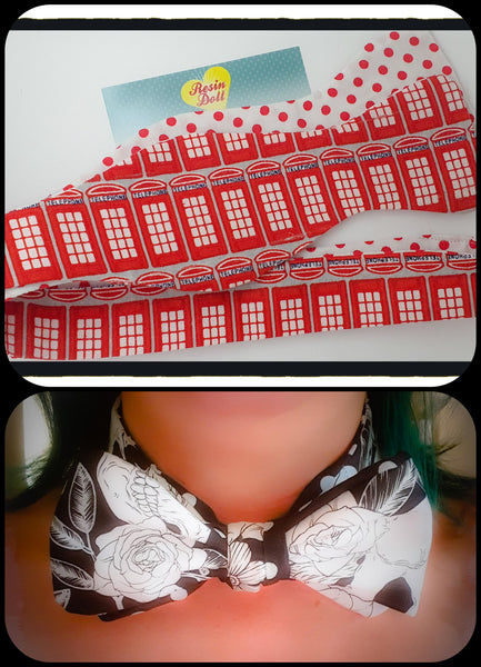Phone booth reversible bow tie