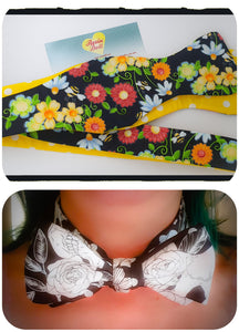 Bees reversible bow tie
