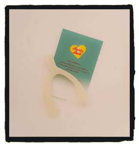 White Wishbone Brooch
