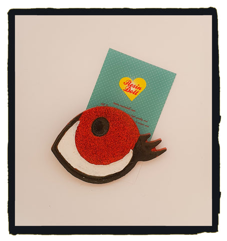 Red eye Brooch