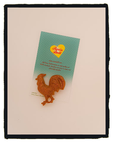 Rusty rooster Brooch