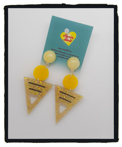 Pastel yellow To the point drop earrings (new design)