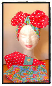 Paisly floral Reversible headband (New design)