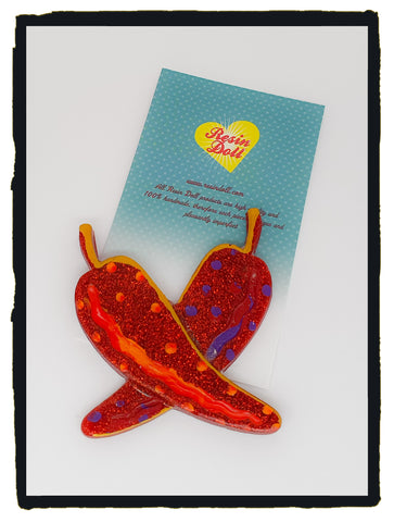 Colour Chilli Brooch