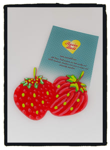 Colour strawberryBrooch