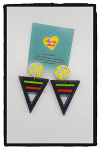 Black neon Odd-bodd To the point drop earrings