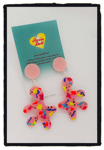 Hand painted pink spatter splat drop