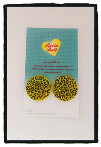 Leo yellow Round stud