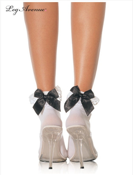 Ankle sock with bow(2 colours)