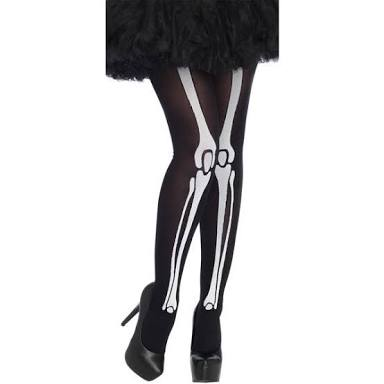Skeleton print bone tights