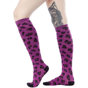 "Leopard print 17"" socks (3 colours)"