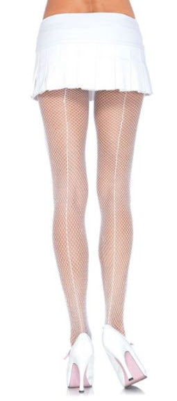 Fishnet Back Seam Pantyhose
