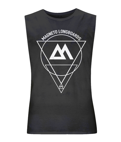 Magneto Unisex Tank top - Black - Longboard, Longboards, long board