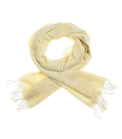 Mon Pashmina Shawl- Banana Cream