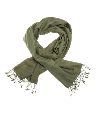 Mon Pashmina Shawl- Military Green