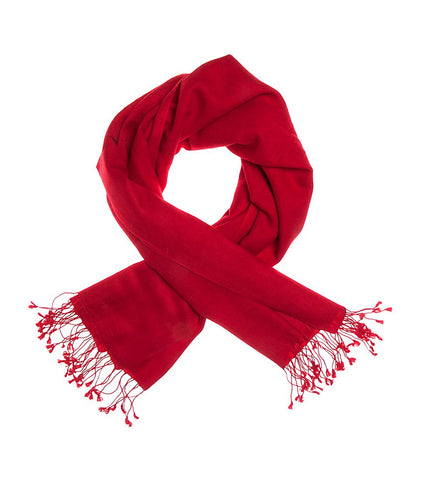 Mon Pashmina Shawl- Ruby Red