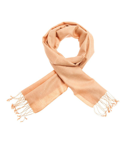 Mon Pashmina Shawl- Peach Orange